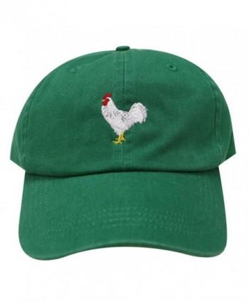 City Hunter C104 Chicken Cotton Baseball Dad Caps 16 Colors - Kelly Green - CD12M3UYY0X