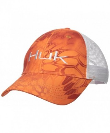 Huk Performance Fishing Kryptek Logo Trucker Cap - Kryptek Orange - CS17X0G7QKW