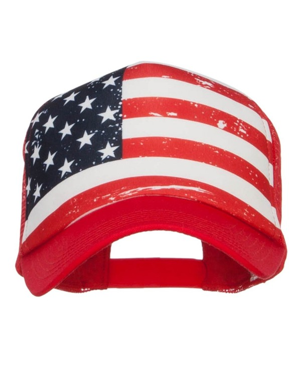 MG USA Flag Foam Trucker Cap - Red - CY12NU8V4XD