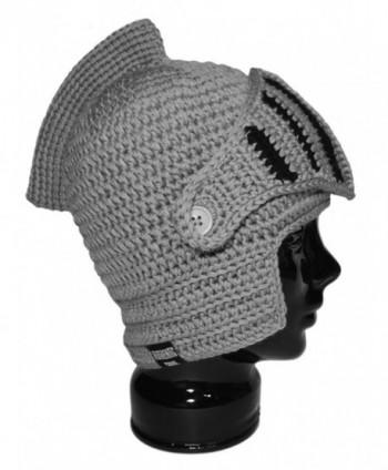 Authentic Soul - The Genuine Original Knight Helmet Hat - Gray Black - CE11GM8ZL9L