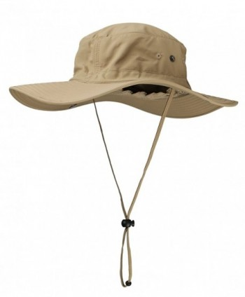 Afala Outdoor Hat For Sun Protection UPF50+ Waterproof For Fishing Hiking 4 Colors - Khaki - C812GZ51NQF