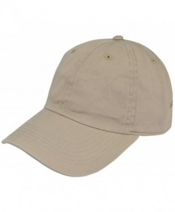 Cotton Classic Dad Hat Adjustable Plain Cap Polo Style Low Profile Unstructured 1400 - Khaki - C612O375PIH