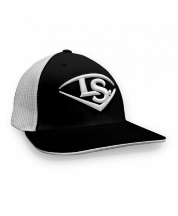 Louisville Slugger Pacific Headwear Flexfit Baseball Cap - Black/White - CL12IEAX4QZ