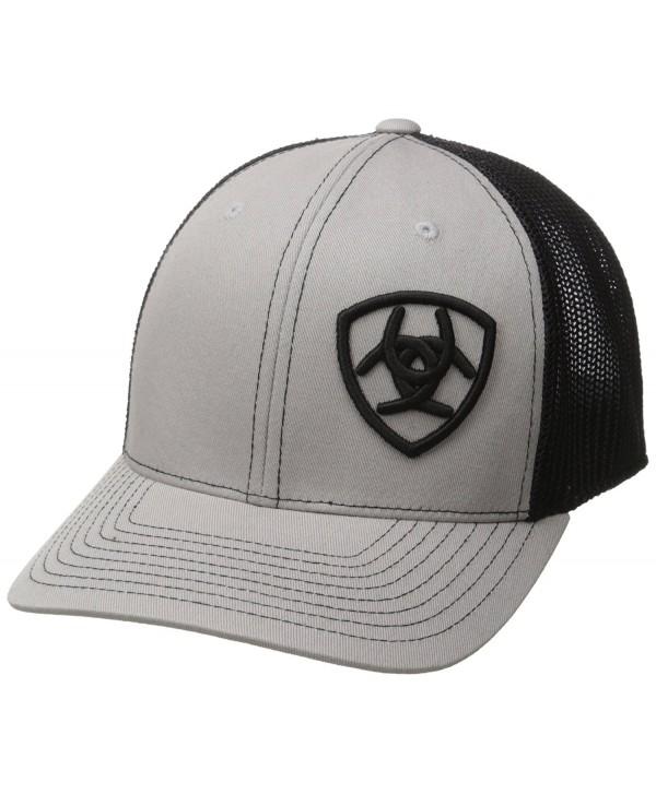 Ariat Men's Black Mesh Corner Logo - Gray/Black - CR12FV2MIVH