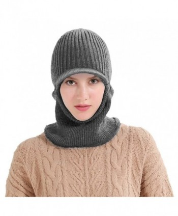 Vbiger Knitted Dual use Thickened Earmuff - Grey With Brim - CP186K0LNGE