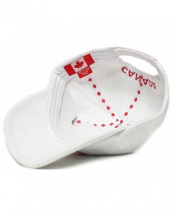 0f70f95b9 Canada Dad Hat Canadian Maple Leaf Cap Flag Embroidered Unisex Adult -  White - C61836H9Q5M