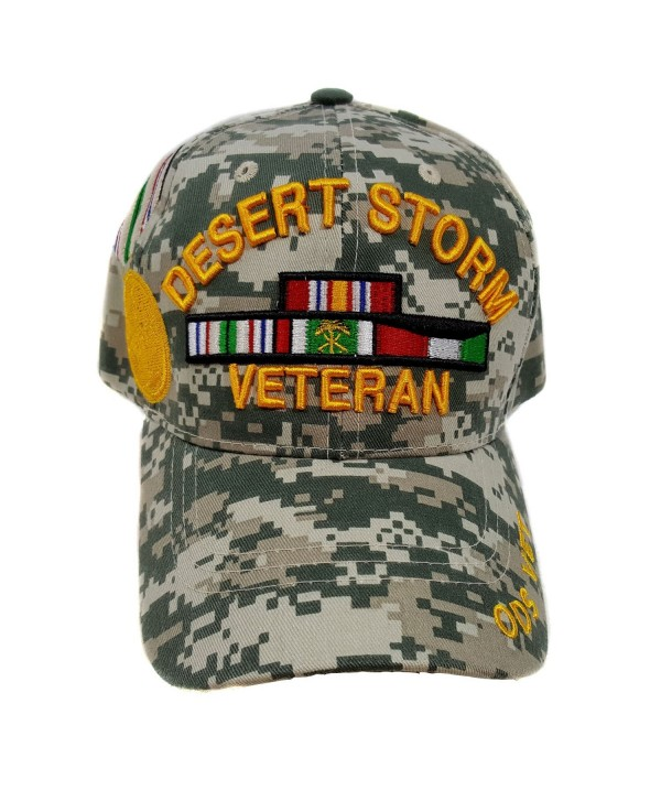 US Desert Storm Veteran ODS Vet Brim Camouflage Military Officially Licensed Cap - C812MZEZIZ2