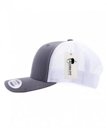 Acorn Acornfit Yupoong Classic 6606- 6606T- 6606W- Retro Trucker Hats- Mesh Back Baseball Caps - Charcoal/White - CV182OUWHRW