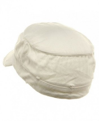 Washed Cotton Fitted Cap White W32S33F