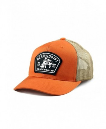 Fly Fishing Hat Bucking Trout Orange Trucker Snapback Dead Drift Fly - Orange/Cream - CO12FFNNDYN