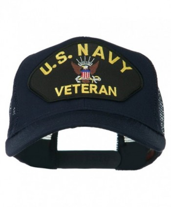 US Navy Veteran Military Patch Mesh Back Cap - Navy - CZ11MJ3QZTX