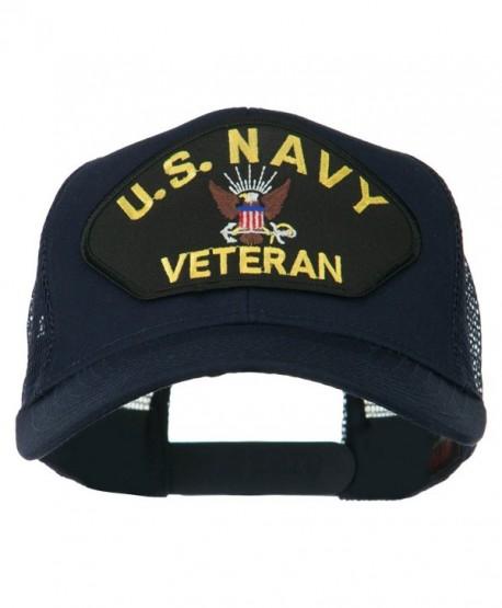 US Navy Veteran Military Patch Mesh Back Cap - Navy - CZ11MJ3QZTX