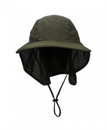Connectyle Outdoor Neck Flap Sun Hat Large Brim Sun Protection Bucket Fishing  Hats - Army Green  Connectyle Outdoor Protection Bucket Fishing ... 352cd534ceb7