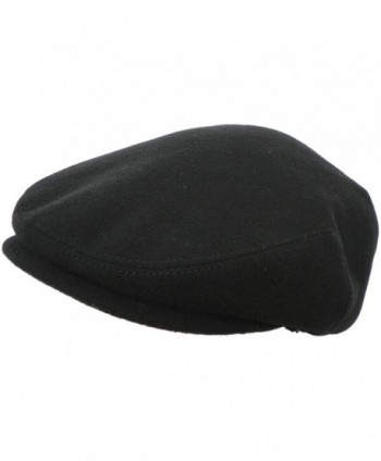 Headchange Made in USA 100% Wool Ivy Scally Cap Driver Hat - Black - CC11HH1MC99