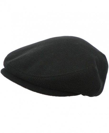 2879942cb Made in USA 100% Wool Ivy Scally Cap Driver Hat - Black - CC11HH1MC99