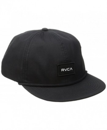RVCA Men's Curren Caples Cap - Black - C612IKLRYDN