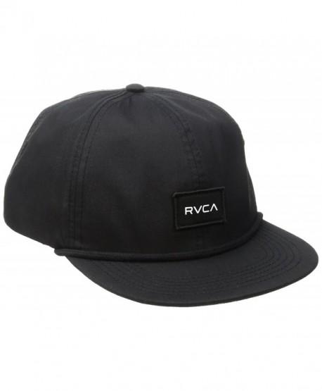 RVCA Men's Curren Caples Cap - Black - C612IKLRYDN