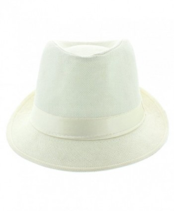 Faddism Fashion Fedora Hat White