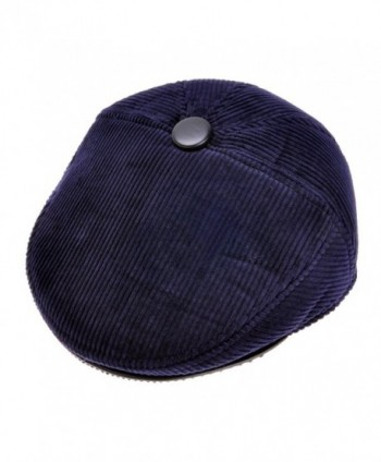 ZLYC Men Fashion Warm Lint Lining Newsboy Cap Cold Weather Hat - Dark Blue - CQ126QD8B2Z
