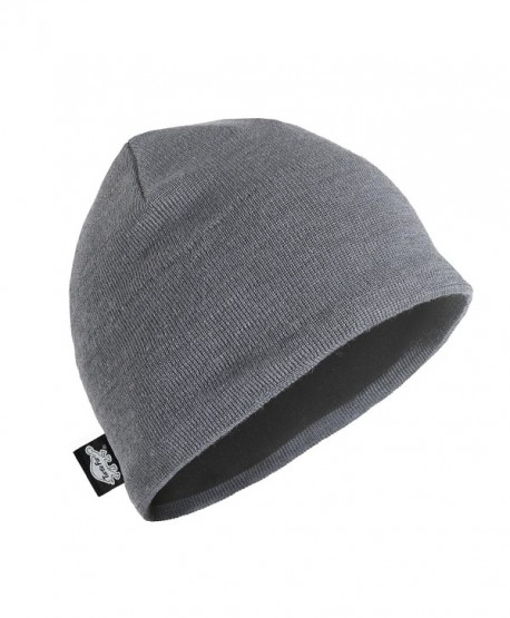 Turtle Fur Mens Merino Wool Nordic Style Beanie- Black/Solid Knits - Graphite - C111K5PSN8D
