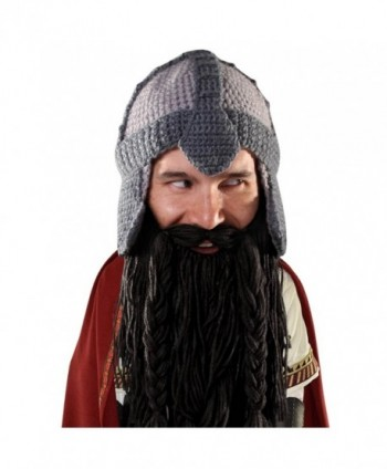 Beard Head - The Original Barbarian Warrior Knit Beard Hat - Black - CP11Q05YGT7