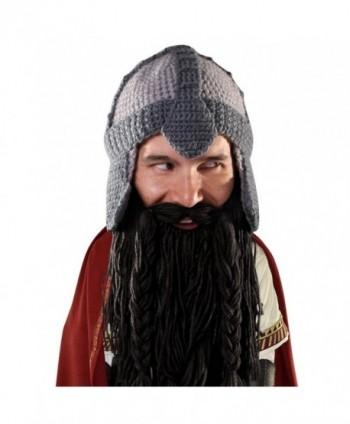 Beard Head - The Original Barbarian Warrior Knit Beard Hat - Black - CP11Q05YGT7