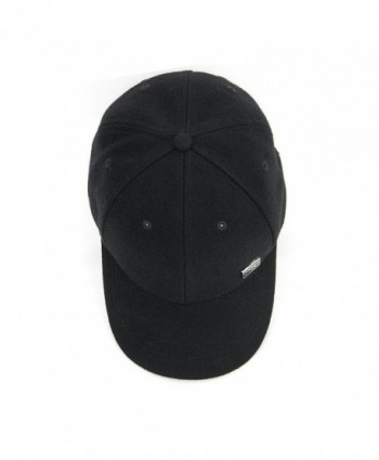 JHC Curved Baseball Snapback Black