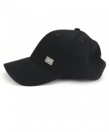 JHC Curved Baseball Snapback Black in Men's Baseball Caps
