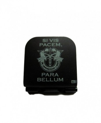 Si Vis Pacem Para Bellum With SF Crest Laser Etched Hat Clip Black - C1128O41487