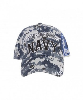 United States Navy 3D Embroidered Adjustable Baseball Cap Hat - Camo - CC11QDA4PP3