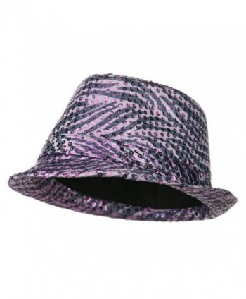 Sequin Zebra Fedora - Purple - CF11ND5L6IB