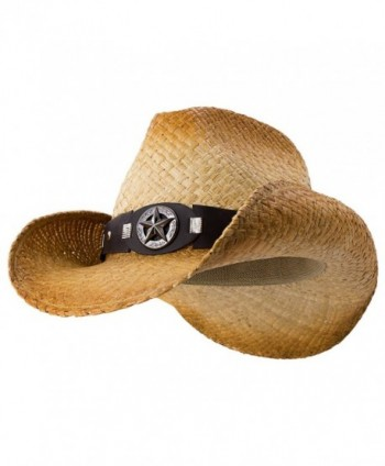 Stand Off - Deadwood Trading &bull Shapeable Raffia Straw Cowboy Hat - CN182HED0IK