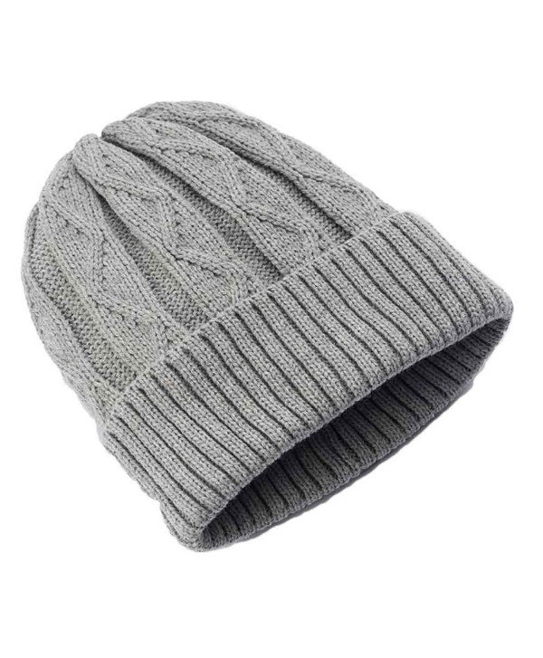 Urban Pipeline Men Cable Knit Beanie Grey One Size YUP53CW05 - CB12NYCWCZ0