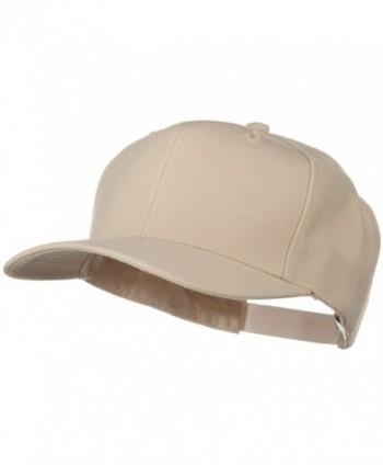 Solid Wool Blend Prostyle Snapback Cap - Tan - CN11918FLEJ