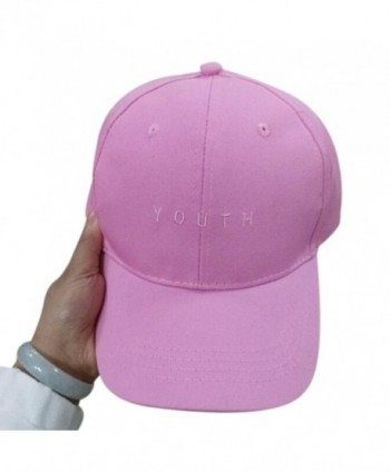 Voberry Men Womens Cotton Baseball Cap Boys Girls Snapback Hip Hop Flat Hat - Hot Pink - CF12H91PKSB