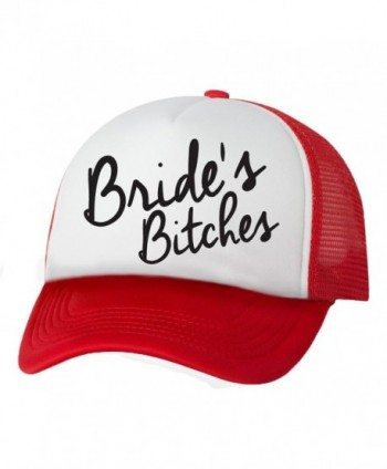 Bride's Bitches Truckers Mesh snapback hat - White/Red - CS11N1Z61VP
