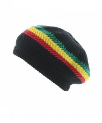 Milani Rasta-Inspired Festive Woven Knit Beanie - Black GYR - CY11T836I4T