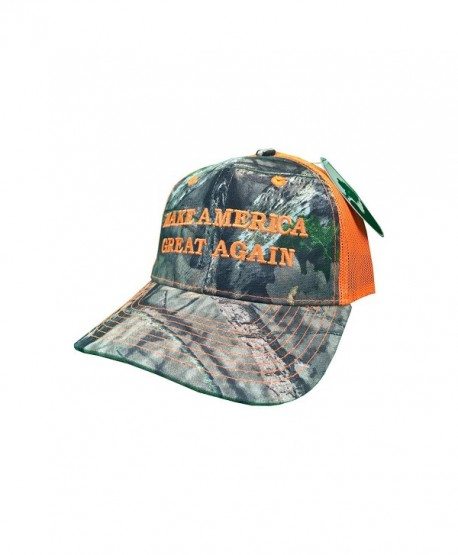how-z-it Make America Great Again Donald Trump Hat - Mossy Oak Camo/Blaze Orange - C412OCFT8Q4