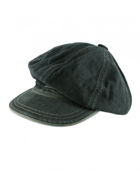 Morehats Jean Cotton Flat Cap Cabbie Hat Gatsby Ivy Irish Hunting Newsboy Hunting Beret - Jean - CI11LHPI911