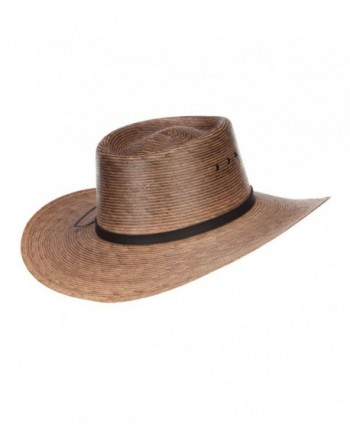 Mens Palm Braid Gambler Hat in Men's Sun Hats