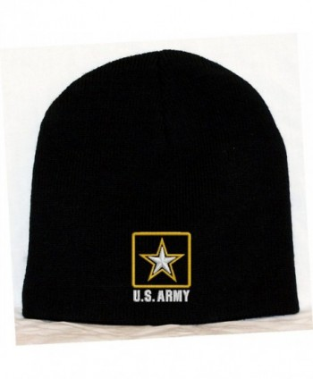 U.S. Army Logo Embroidered Skull Cap - Black - CQ118VMSHWT