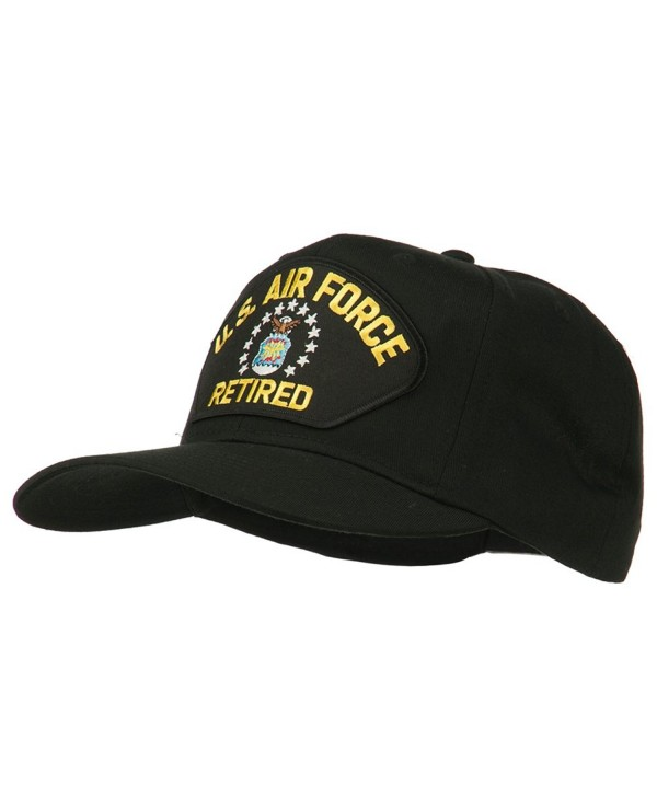 US Air Force Retired Military Patched Cap - Black - CW11TX774ZR