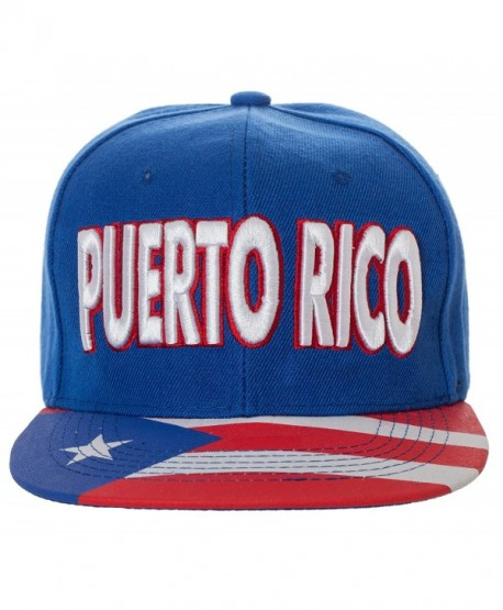Artisan Owl Embroidered Puerto Rico Snapback Baseball Cap With Flag On Bill - One Size Fits All - CS182OIKKE5