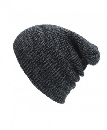 Perman Unisex Winter Warm Knit Crochet Ski Hat Braided Turban Headdress Caps - Dark Gray - C712N8ZL9CG