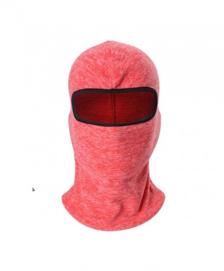 Cationic Fabric Balaclava Masks Winter Thermal Fleece Full Face Mask Neck Warmer - A06: Red - CH186OLT4GT