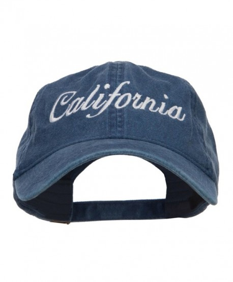 California Embroidered Washed Cap - Navy - CX124YM0J75