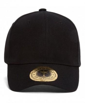 TopHeadwear Classic Black Adjustable Hat - C9111GKARRZ