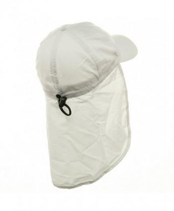 Flap Hats 02 White OSFM in Men's Sun Hats