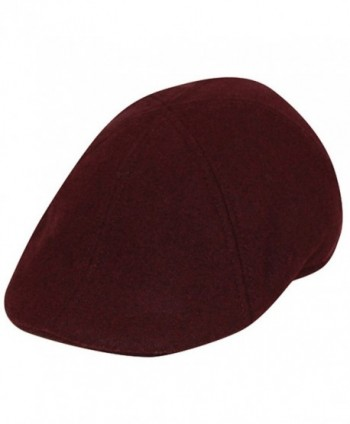 Men's Wool Blend Newsboy Duckbill Driving Cap Ivy - Burgundy - CE12NZZ33N0