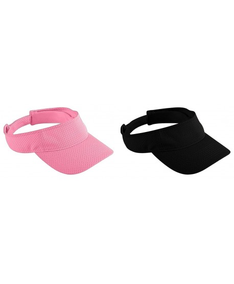 Augusta Sportswear Adult Athletic Mesh Visors Set - Set of Pink & Black - C012673SS6D